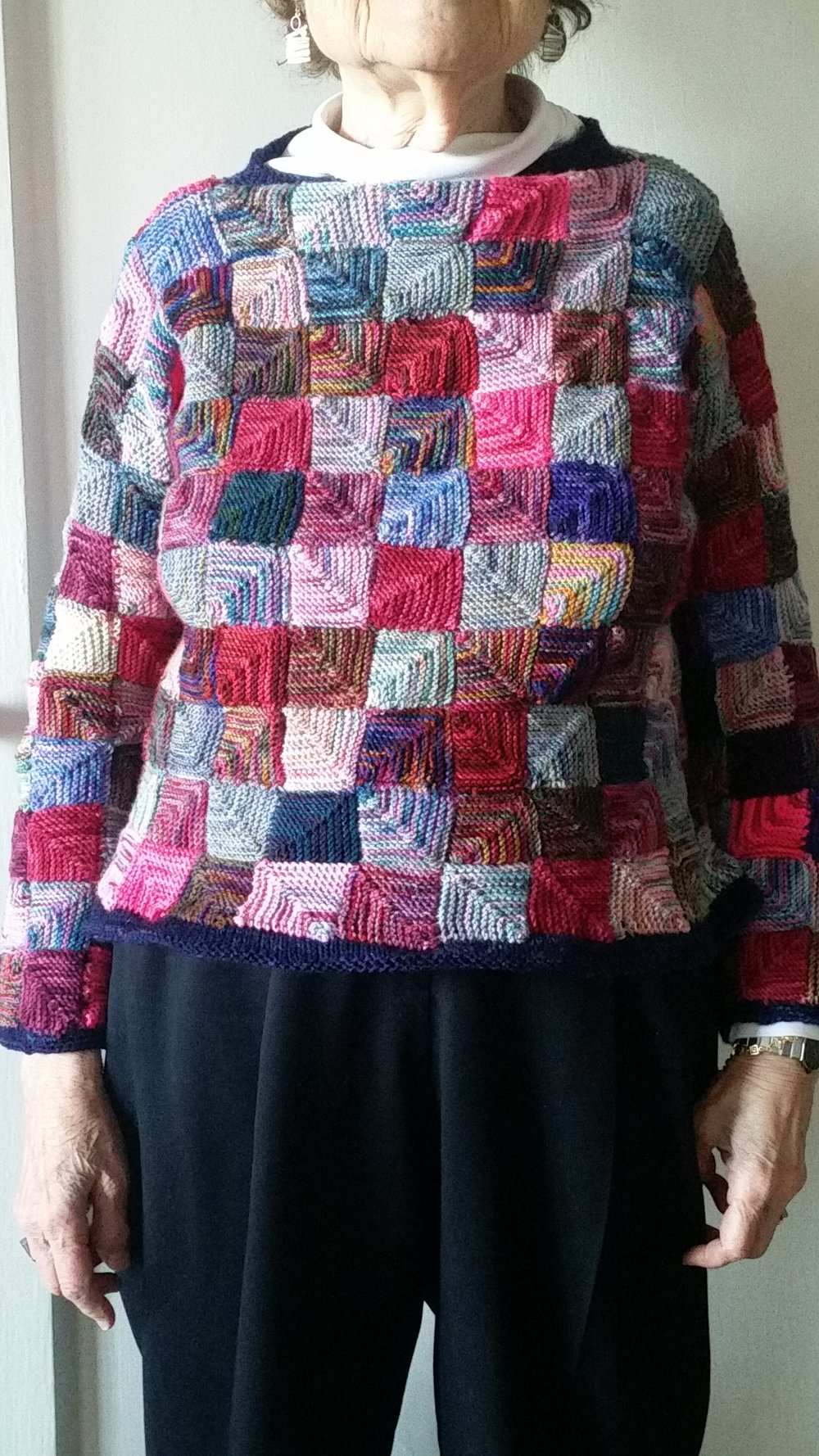 Lynn - This is a modular sweater I put together, just adding on till it was the right size.