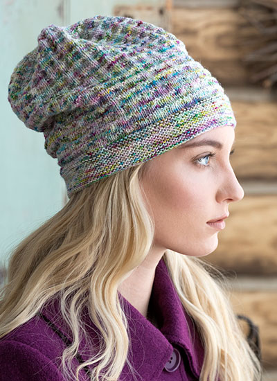 Slouchy Hat by Jennifer Toland - Knit in Koigu KPPPM