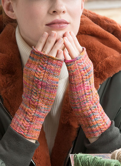 Fingerless Mitts by Cheryl Murray - Knit in Koigu KPPPM