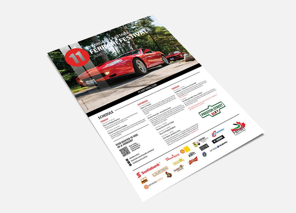 Ferrari Festival Schedule Poster