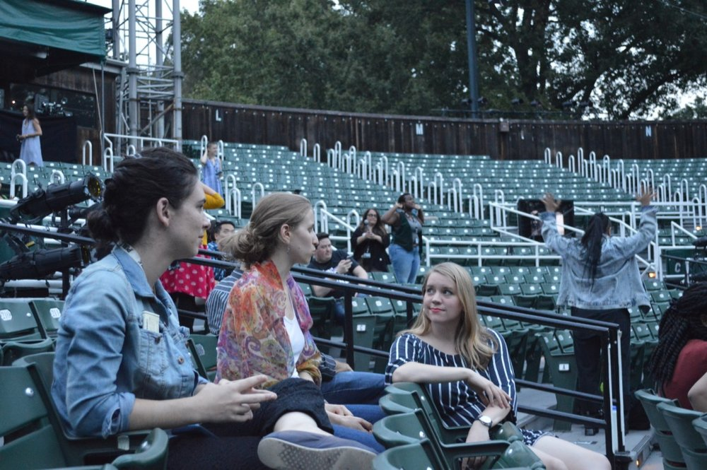 With Britt Bonney and Andrea Grody at the Delacorte Theater (photo by Mike Brun 2017)