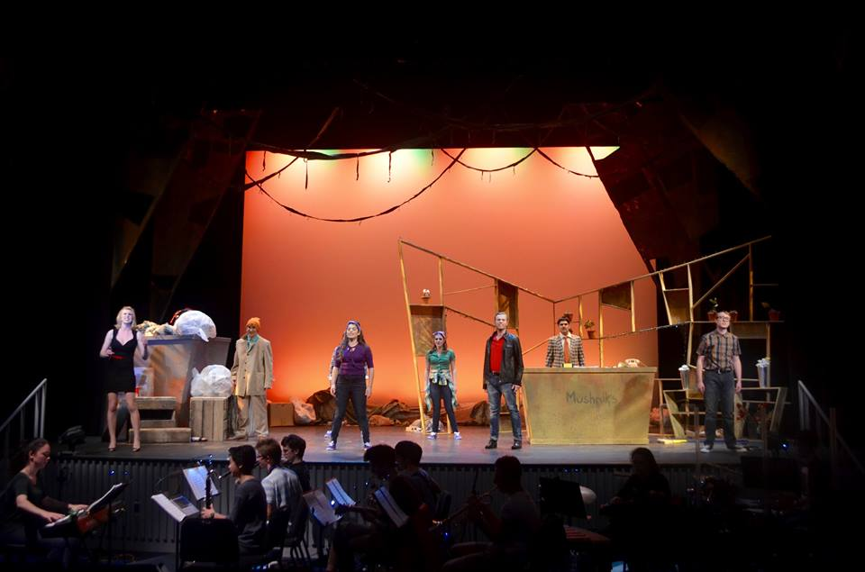 At Tufts University with the company of  Little Shop of Horrors  (photo by Blair Nodelman/Henry Jani 2015)