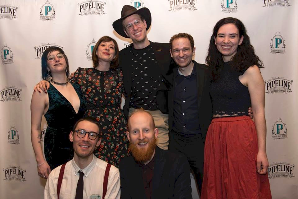 With the  Folk Wandering  music team (Ellen Winter, Annie Tippe, Blake Allen, Joel Esher, Mike Brun, & Andrew Butler) on opening night (photo by Marcus Middleton 2018)