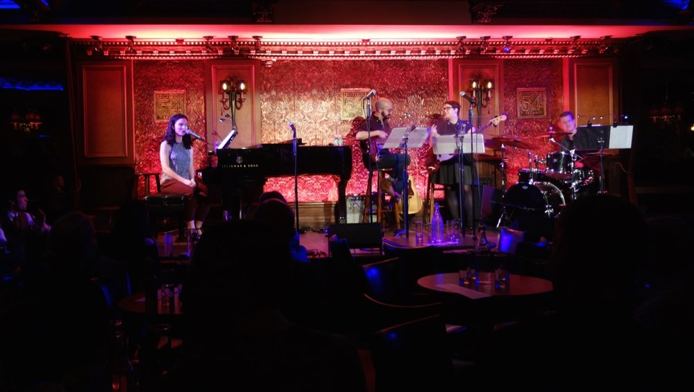 With Chris Anselmo, Magda Kress, & Dan Berkery at  The Songs of Simone Allen at Feinstein's/54 Below  (2018)