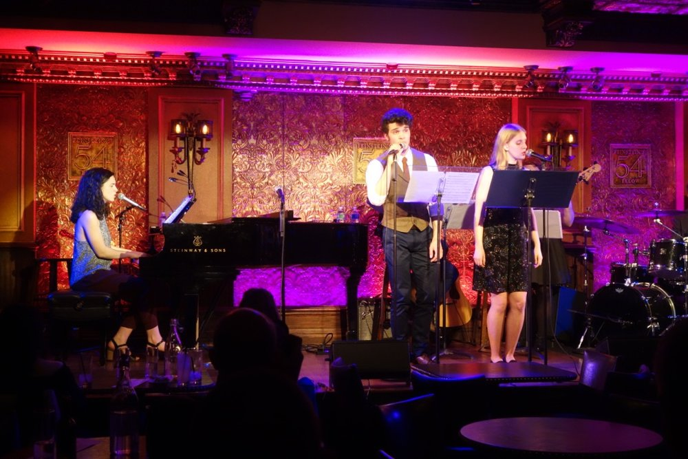 With Ed Rosini & Grace Oberhofer at  The Songs of Simone Allen at Feinstein's/54 Below  (2018)