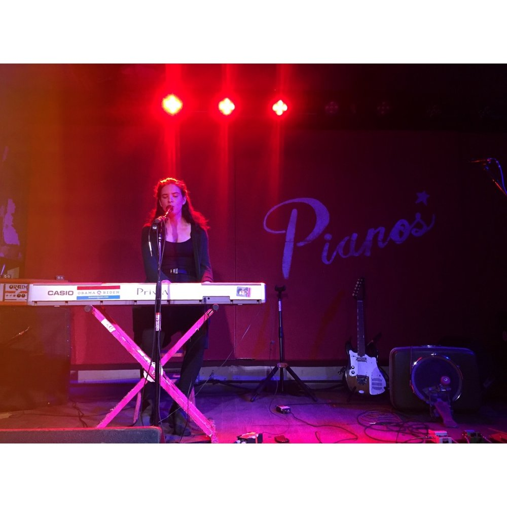 Performing at Pianos with Bandits on the Run (photo by Emily Lane 2018)