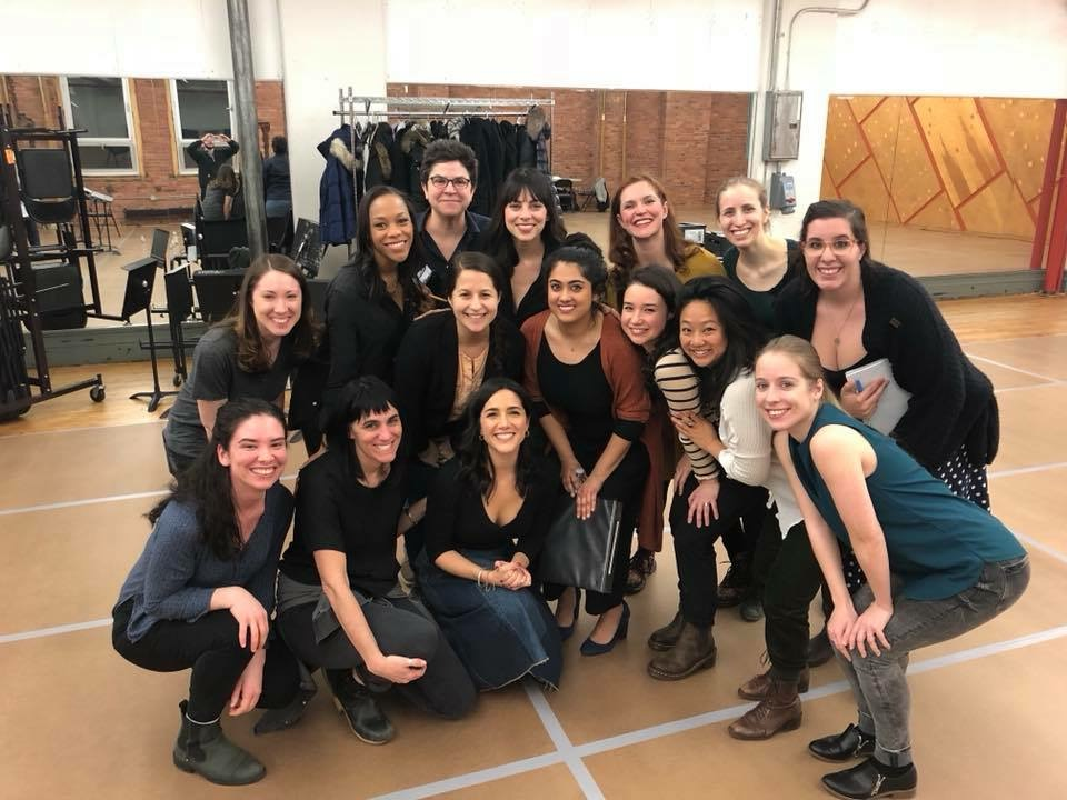 With the company of Shaina Taub's suffrage musical workshop (2018)