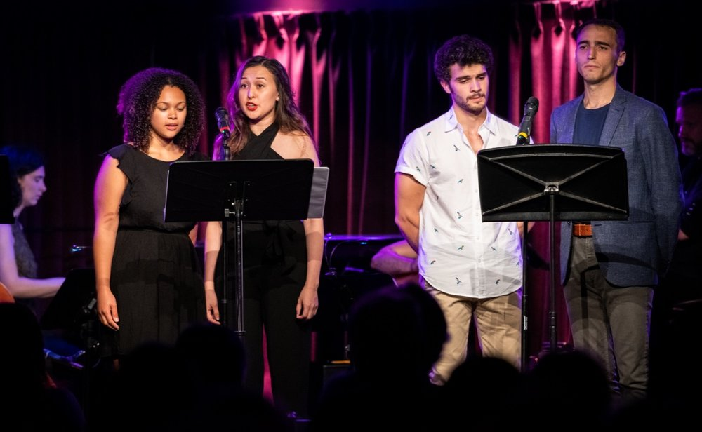 Performing at NYMF Intersecting Chords with Jordan Tyson, Emily Gardner Xu Hall, Ed Rosini, and Jason Weisinger (photo by Russ Rowland 2018)