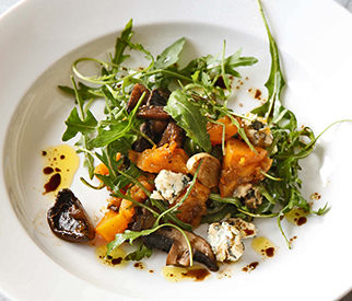warm Squash and Mushroom salad