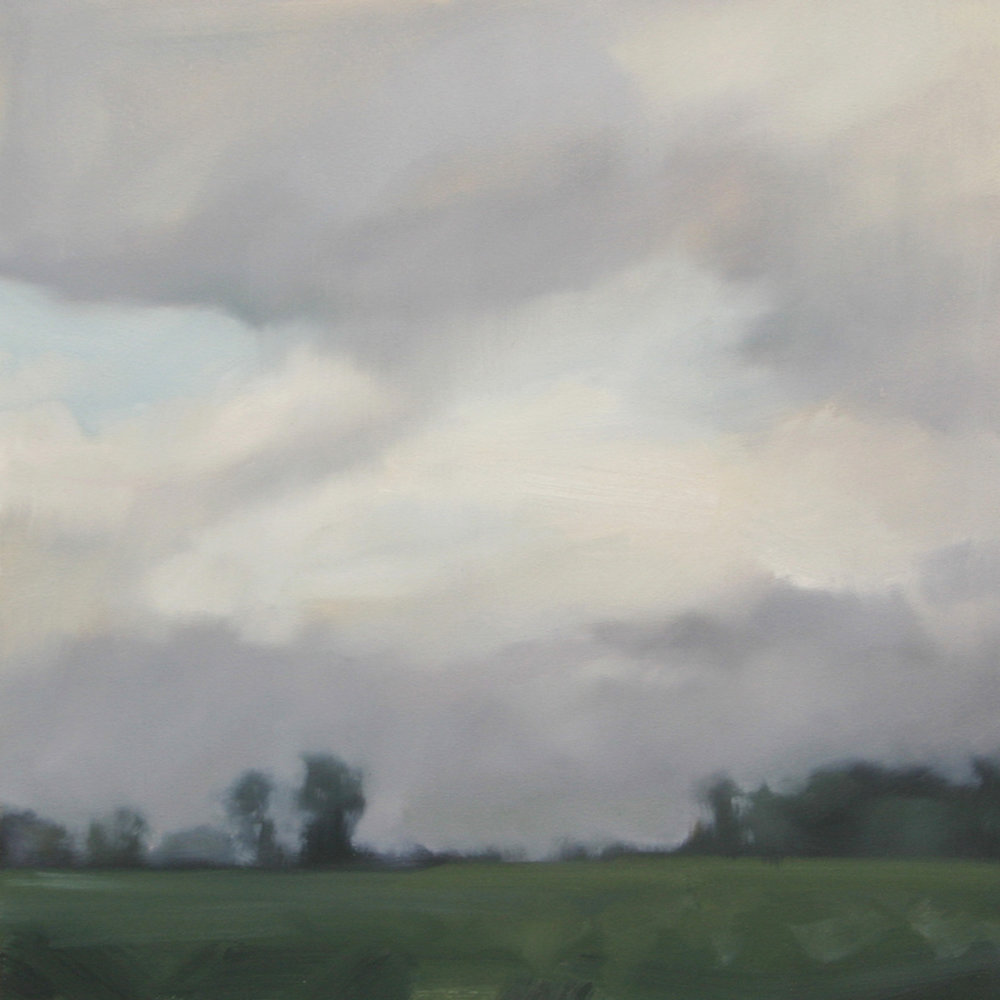 Open Sky (study), 12x12 inches