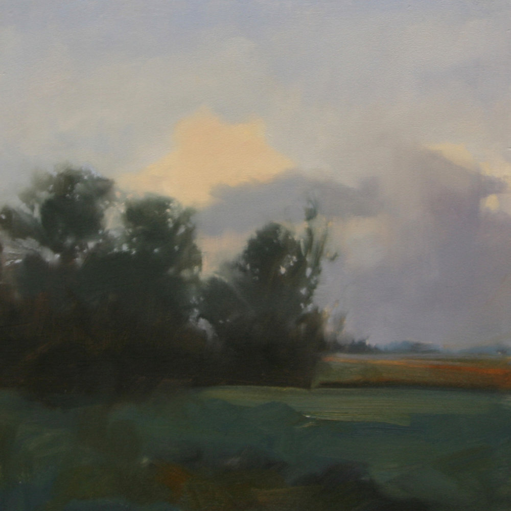 Shady Fields (study), 12x12 inches