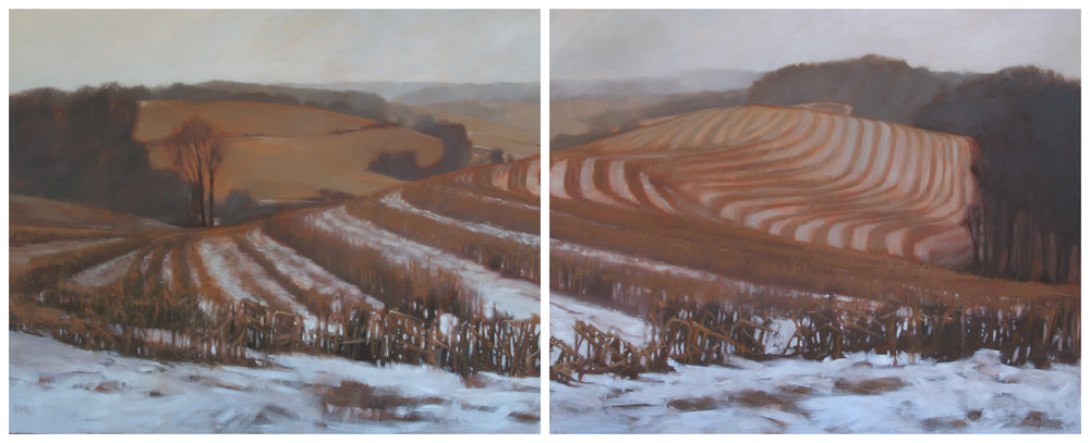 Arden Farm, 48x120 inches (diptych)