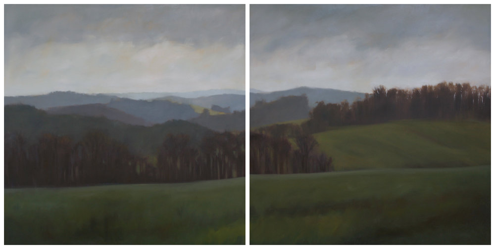 Stahl Farm, 48x96 inches (diptych)
