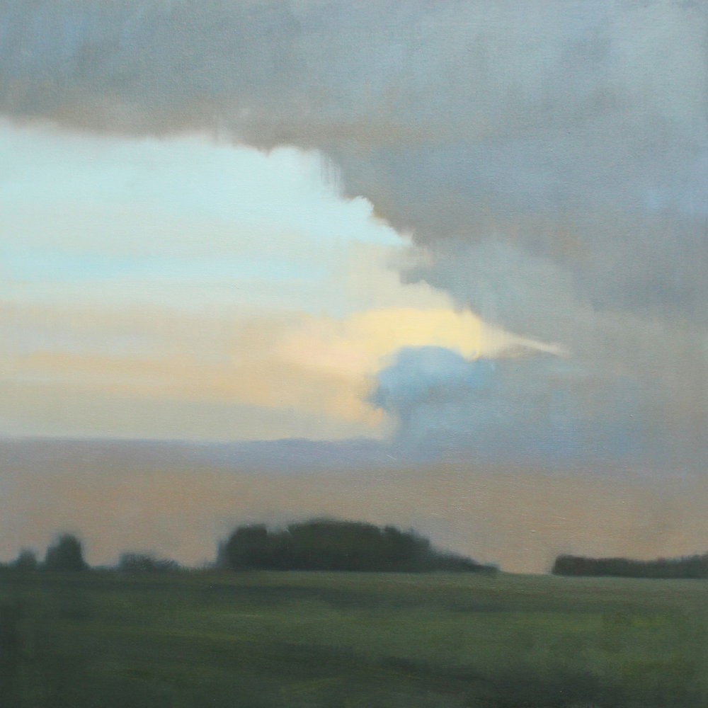 Twilight Storm, 36x36 inches.
