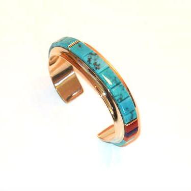 Gold Morenci Turquoise Bracelet
