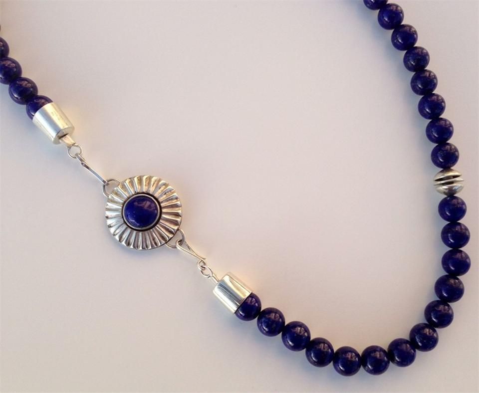 Lapis necklace, detail