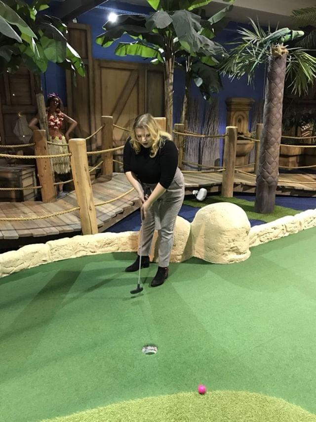 Me playing mini golf