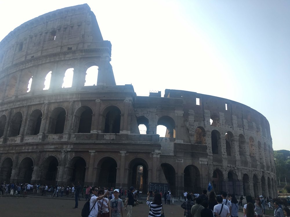 went to the Coliseum