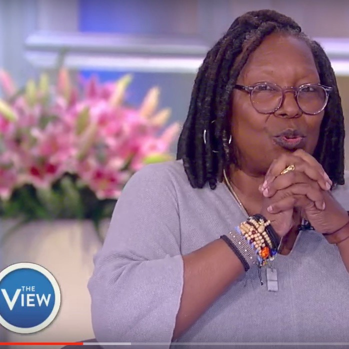 WHOOPI GOLDBERG IN A SOLAR SYSTEM BRACELET - October 2017