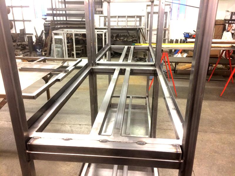 Steel Fabricated Metal Shelving