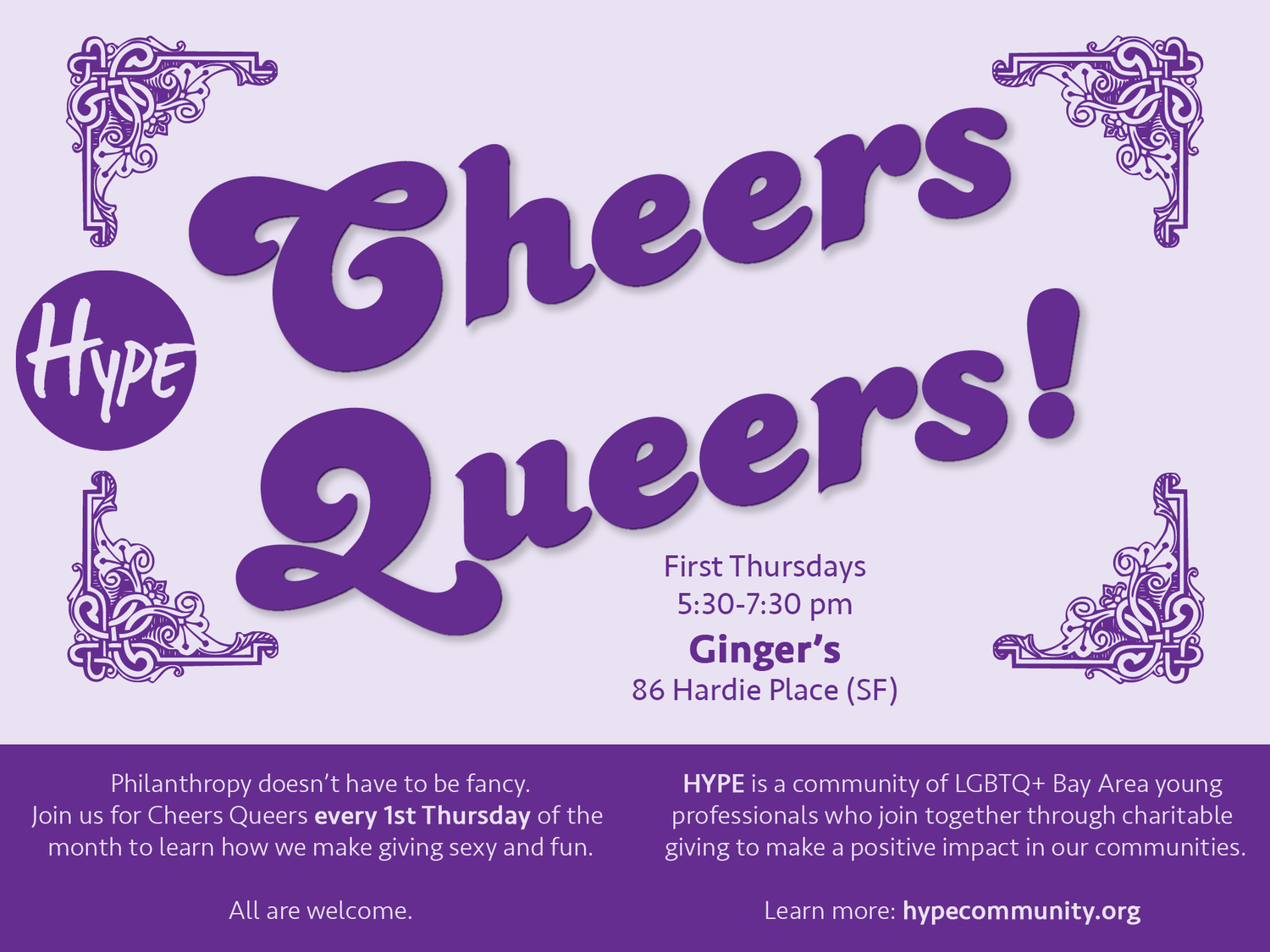 Hype Community Cheers Queers! Happy Hour — Ginger*s