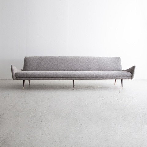 Upholstered Three-Seat Sofa by Upholstered three-seat sofa with