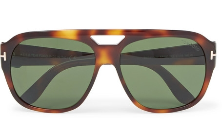 Tom Ford Bachardy Aviator-Style Tortoiseshell
