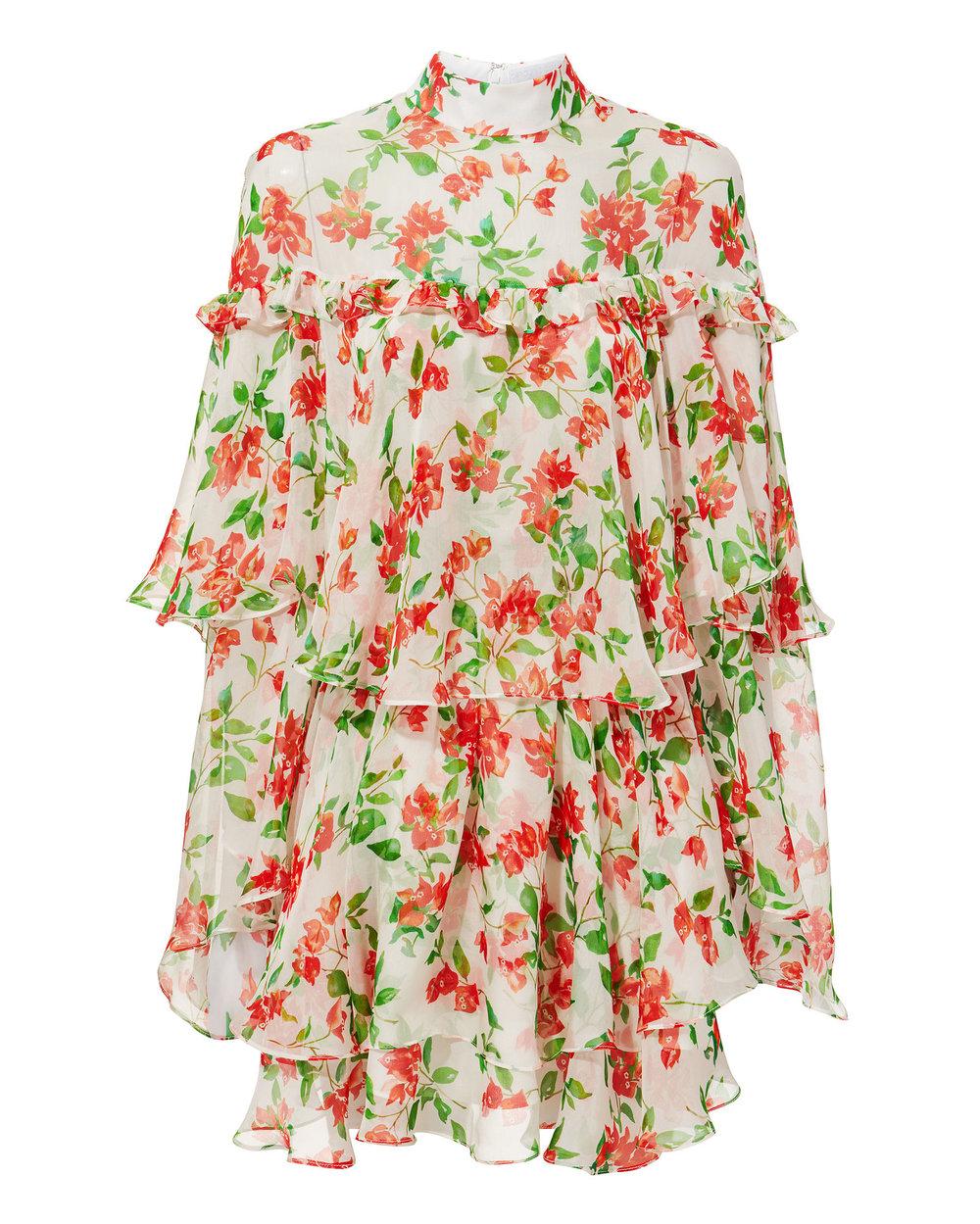 CAROLINE CONSTAS Tessa Floral Mini Dress