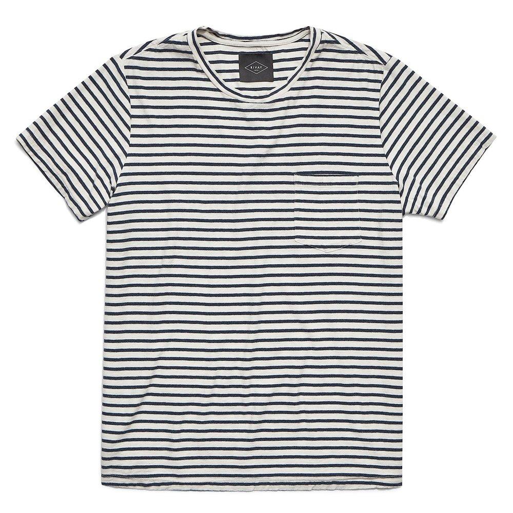 Rivay Jasper Stripe Pocket T-Shirt