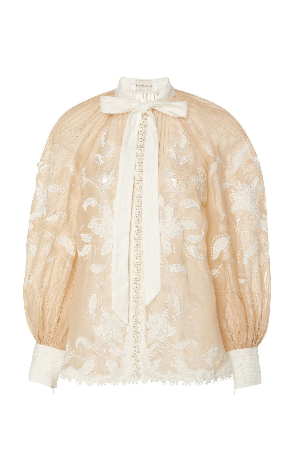 Corsage Lily Silk Linen Top – Zimmermann