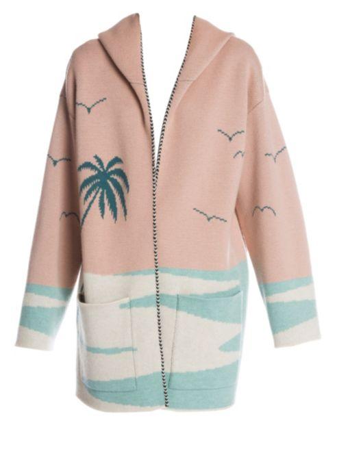 Alanui Palm Beach Wool Hooded Cardigan