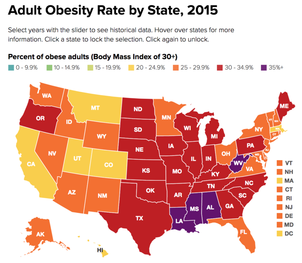 Adult Obesity Rate by State.png