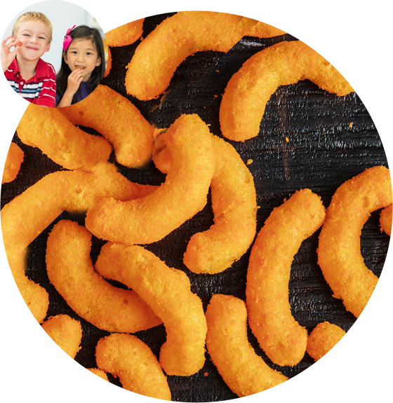 Loved all over the world Puffed Chips High Fiber, packed with Protein, Low Fat, Low Sodium snack Flavors: Cinnamon Toast, Chili Lime