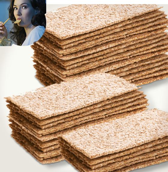 European style Vegan Bread Crisps Gluten Free Alternative to Bread Flavors:Plain, Rosemary