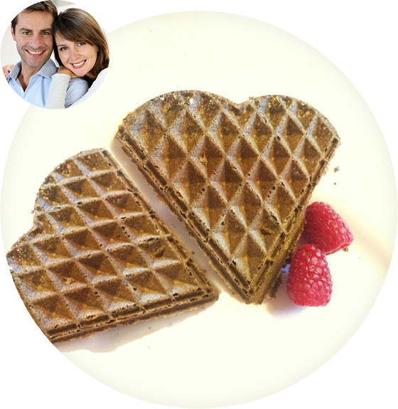 Gluten Free Waffle Mix Hot Vegan Protein Breakfast Flavors: Plain, Vanilla