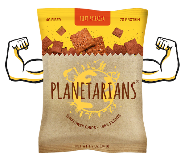 Snack your waste - PLANETARIANS makes chips from discarded parts of plants and believes that by using 100% of plants, we are making meals wholesome, feeding a growing population and all around planet friendly. PLANETARIANS snacks have 300% more Protein, 200% more Fiber and 70% less Fat per serving than typical potato chips.