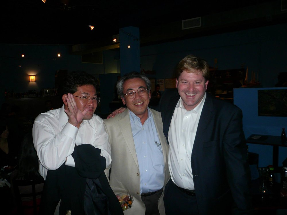 From left to right Dr. Maz, Dr. Fukamachi, and Dr. Charles Richardson, Cleveland Clinic