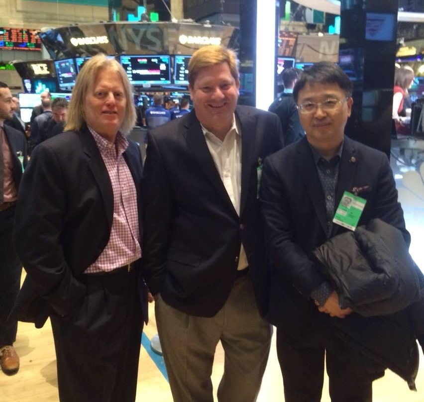 Chris Kim J.D. and Dr. Charles Richardson on Wall Street with a Healthcare Investment Banker