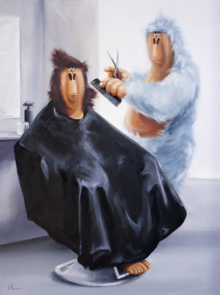SOLD - Taming the Mane, 24x18""