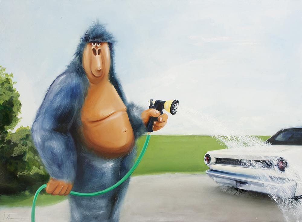 "Mitch, oil on panel 16x20"""