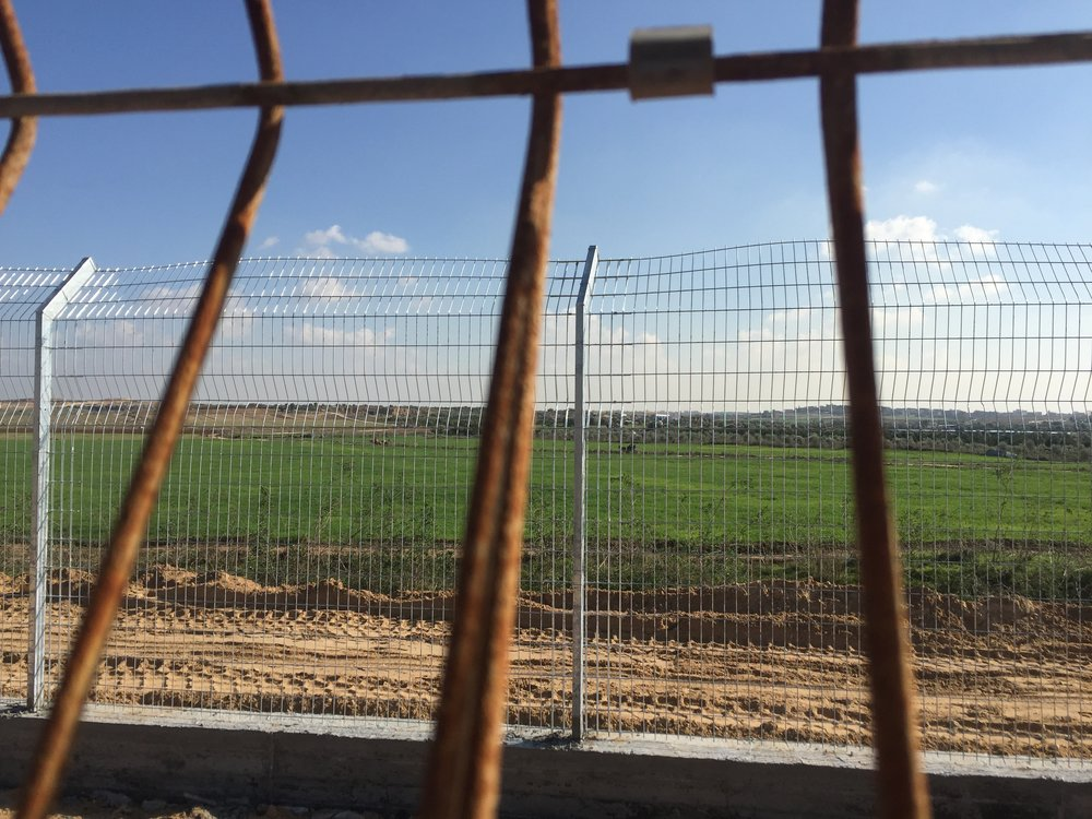 Leaving Gaza, crossing into Israel