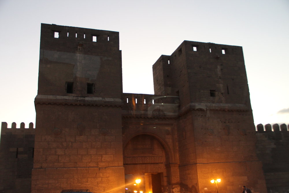 High gates in the 11th century walls of Cairo