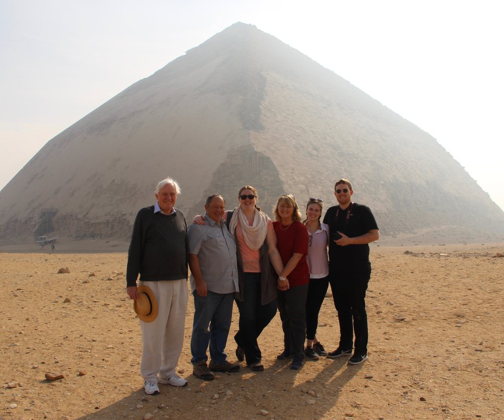 Our intrepid crew at the Bent Pyramid - which had not yet conquered the form!