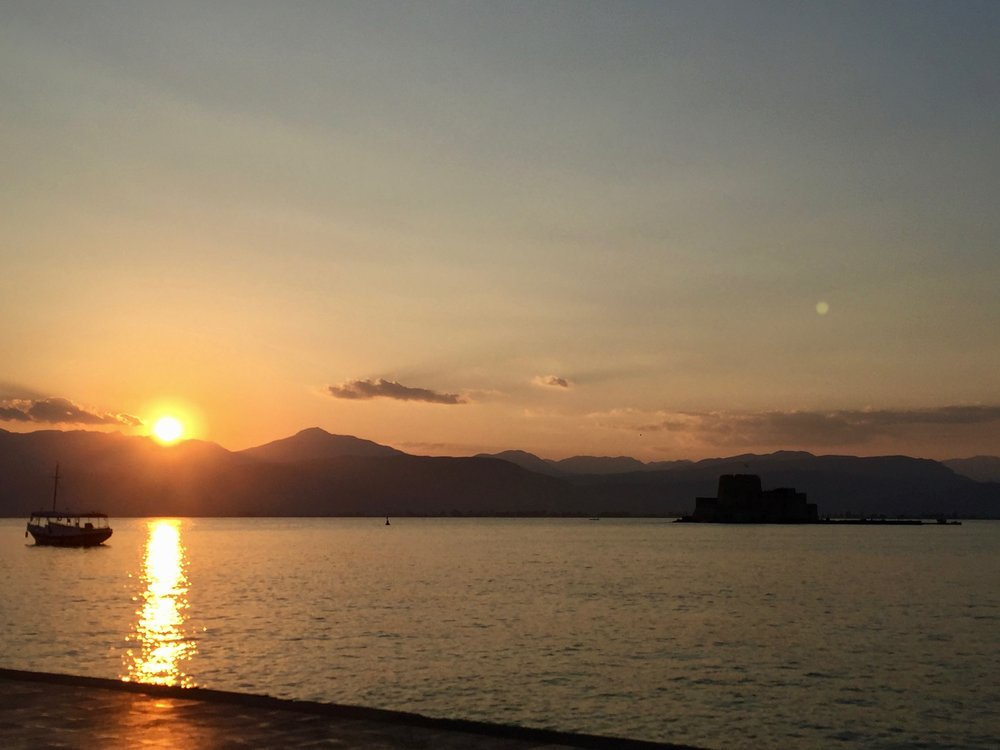 Nafplia at sunset