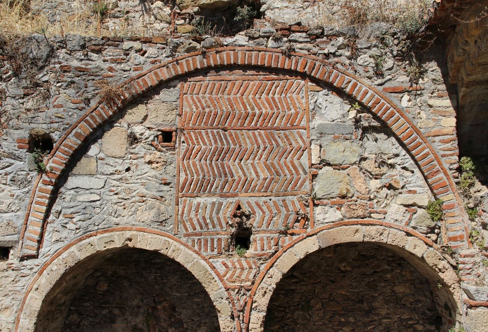 Delicious Byzantine brick work on every possible surface