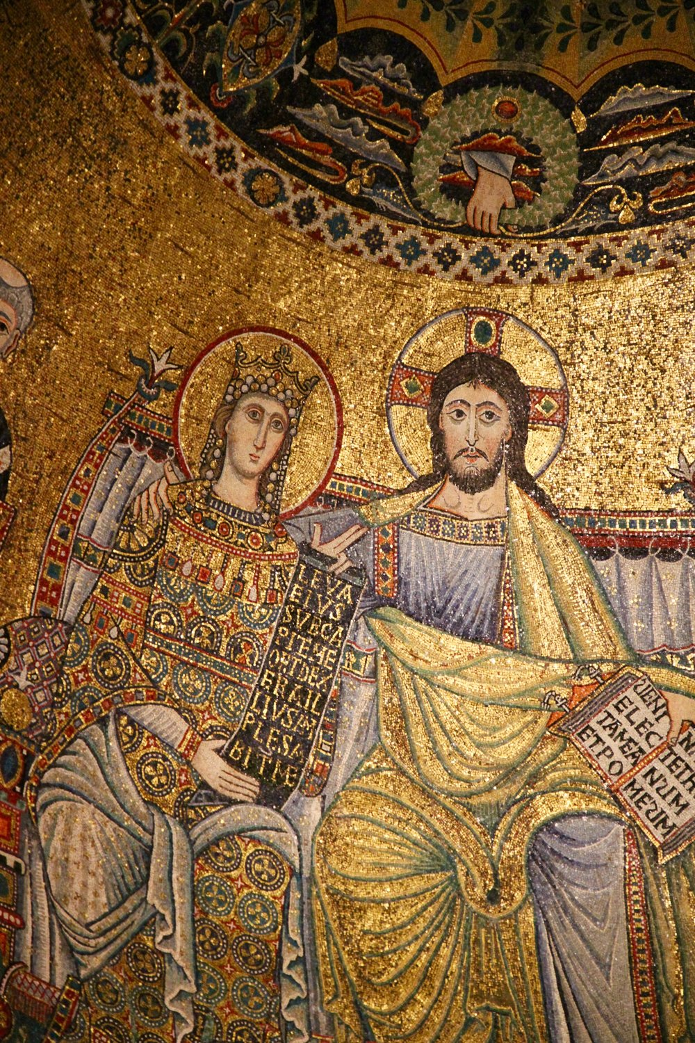 Christ and Mary as Byzantine emperor and empress