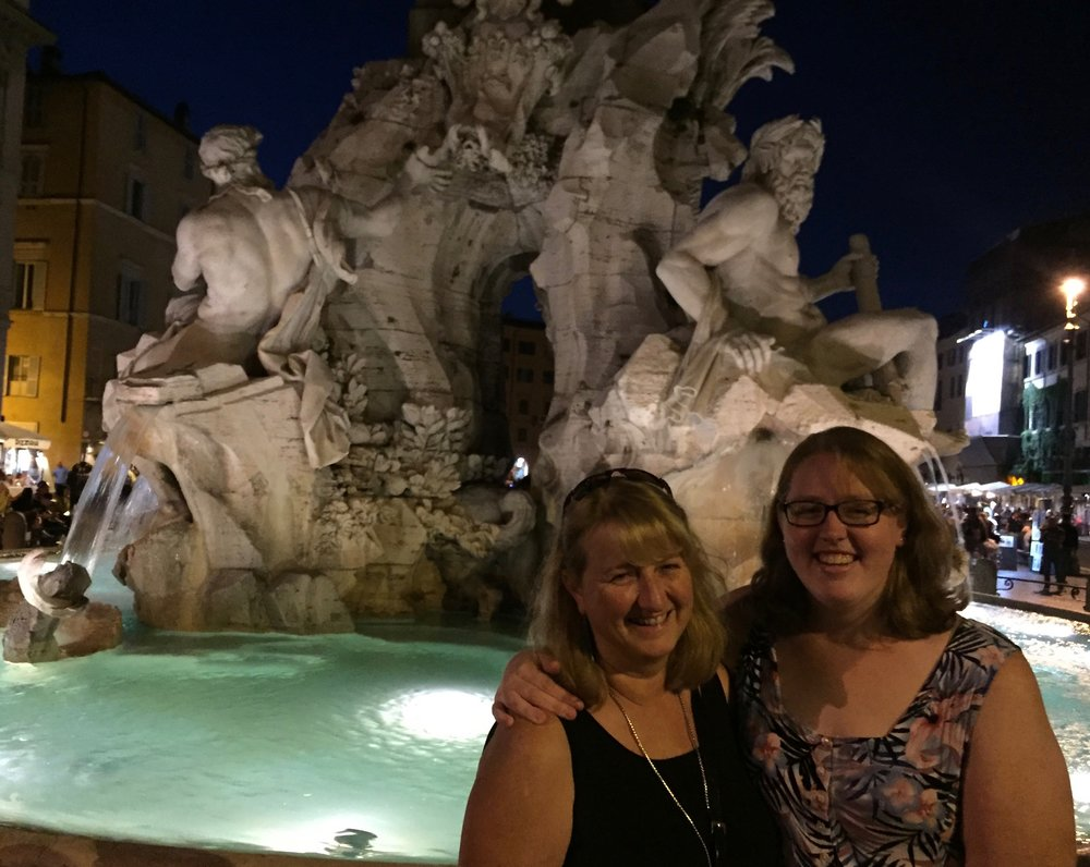 Piazza Navona, with my best traveling companion