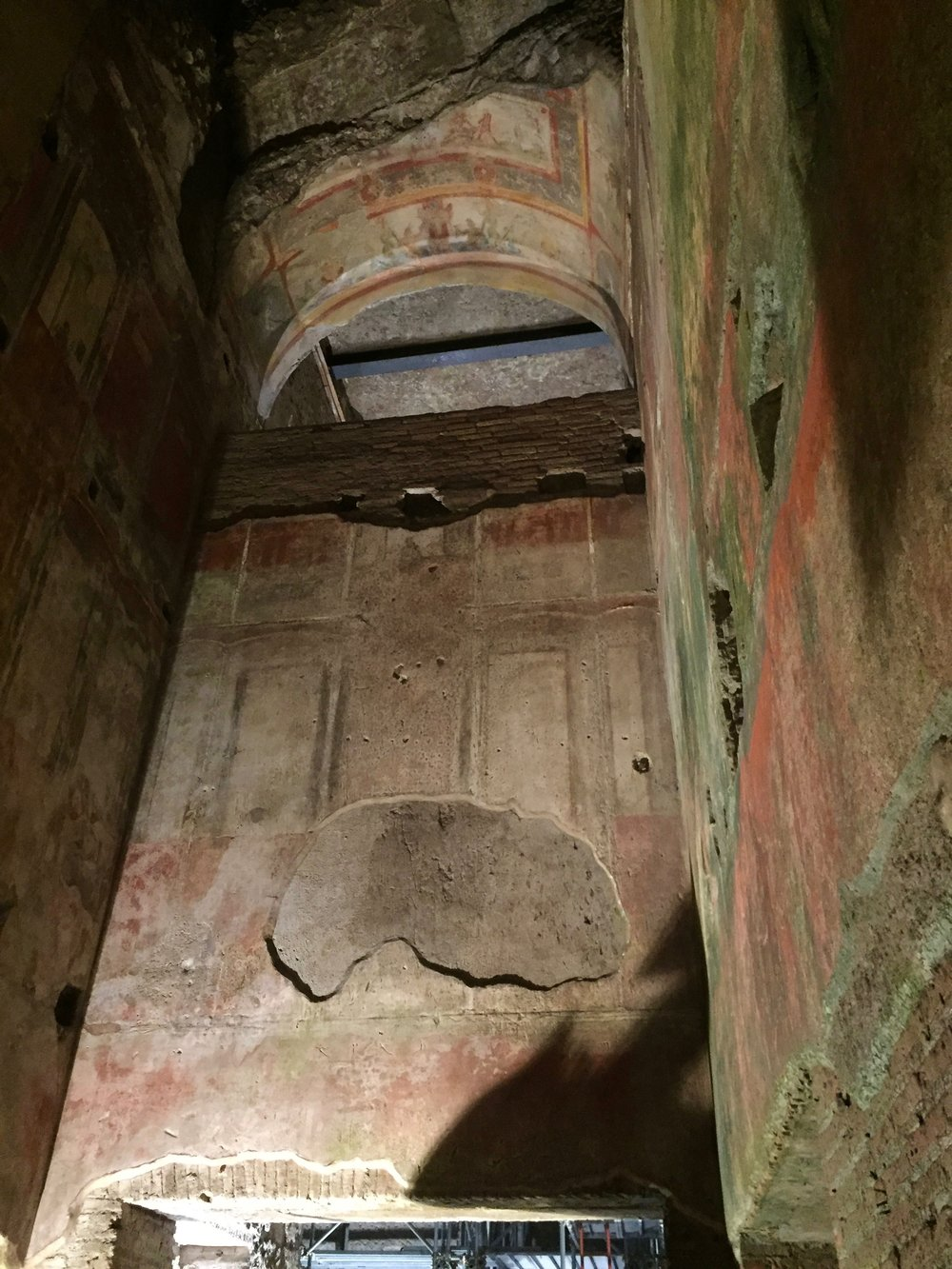 Ceilings more than 30 ft high within Nero's palace