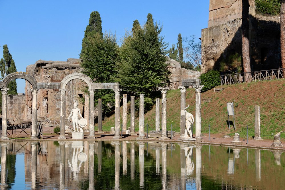 The pool at Hadrian's Villa