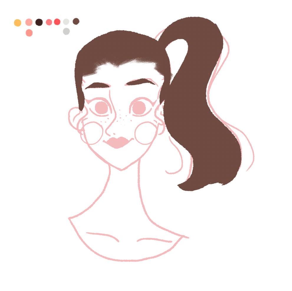 Paso 3: - El mismo proceso del paso 2, pero ahora con el cabello y en una capa diferente.